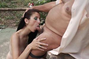 Incesto padre e hija al aire libre